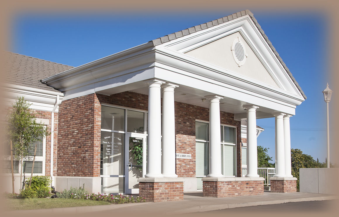 Background image of Dr. Boren's office front entrance